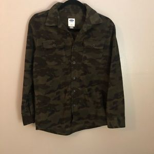 Old Navy | Camo Button-down Coat